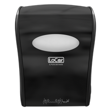 Solaris® LoCor® Black Mechanical Hands Free Roll Towel Dispenser (D68006-BK NIV)