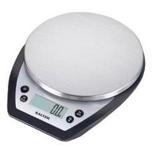 Salter Aquatronic 11 Lbs Black Electronic Kitchen Scale