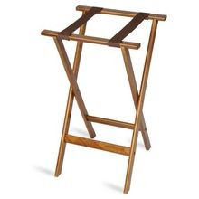 Deluxe Wood Tray Stand  Dark Walnut (1170-1)