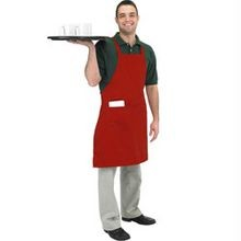 Red Bib Cloth Apron (601BAC-RD)