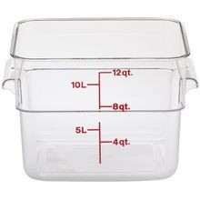 Cambro® CamSquares® Clear Poly 12 QT Square Food Storage Container (12SFSCW135)