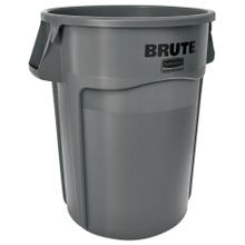Rubbermaid Commercial® Brute® 44 Gallon Gray Garbage Can with Venting Channels (264360)