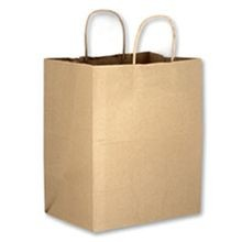 Duro Bag® Bistro Kraft Paper Twist Handle 10