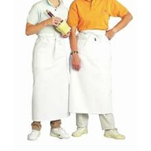 White Cloth Bistro Apron (607BA)