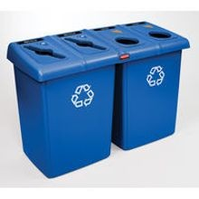 Rubbermaid Commercial® Blue Recycle Station (1792372)