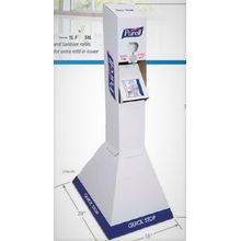 GOJO® Purell® Hand Sanitizer Quick Floor Stand Kit (2156-02QFS)