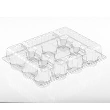 Par-Pak® Clear 12 Cup Muffin/Cupcake Hinged Plastic Containers (2049)