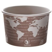 Eco-Products® World Art™ Brown 8 oz Paper Soup Containers (EP-BSC8-WA)