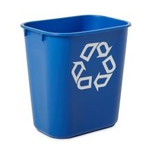 Rubbermaid Commercial® Deskside Recycle 14 QT Small Blue Can (2955)