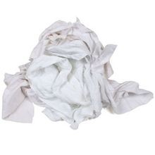 White Knit Wiper 10 Lbs Rags (54J)