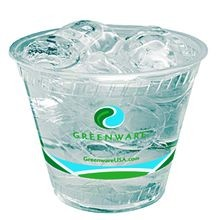 Fabri-Kal® Greenware™ Stock Print Clear 9 oz Old Fashioned Plastic Cold Cups (GC90FFK)