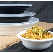 Fineline Settings® ReForm™ White 22 oz Low Profile Plastic Serving Bowl (LPB0722PP)