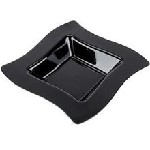 Fineline Settings® Wavetrends™ Black 12 oz Square Bowl (112-BK)