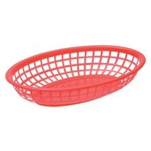 Red Bread Serving Basket 9.375