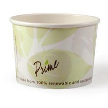 PrimeWare® Ingeo™ 8oz PLA Lined Hot or Cold Use Paper Food Container (FC-8)