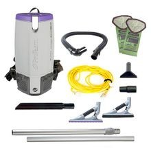 ProTeam® Super Coach Pro 10 HEPA® Backpack Vacuum with ProBlade Hard Surface & Carpet Tool Kit (107538)