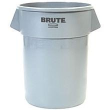 Rubbermaid Commercial® 55 Gallon Brute® Garbage Can with Venting Channels Grey (2655)