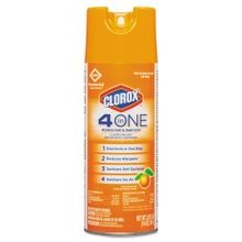 Clorox® 4-in-One Disinfectant & Sanitizer Spray - 14 oz Aerosol Can (31043)