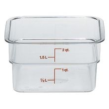 Cambro® CamSquares® Clear Poly 2 QT Square Food Storage Container (2SFSCW135)
