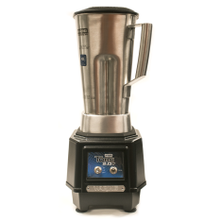 1/2 Gallon Bar Blender. This blender features a 1/2 gallon stainless steel container & sure-grip container handle. Also features black polycarbonate.