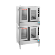 Blodgett ZEPH-200-G-ES DBL Zephaire Convection Oven, gas, double-deck, bakery depth, capacity (5) 18