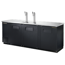 TRUE TDD-4-HC Draft Beer Cooler, (4) keg capacity, stainless steel counter top, black vinyl exterior & (3) doors with locks, galvanized interior with