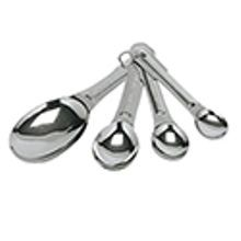 MEASURING SPOONS SET OF 4 SS OVAL 24SETS/BX