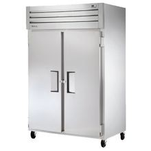 TRUE STM2R-2S-HC Refrigerator, Reach-in, two-section, stainless steel front, aluminum sides, (2) stainless steel doors with recessed handles and door