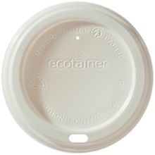 DOME LID FOR 10-20 OZ ECOTAINR WHITE COMPOSTABLE (1200)