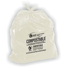 LINER COMPOSTABLE 38X58 CLEAR 55-GAL 35/CS