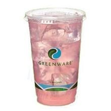 CUP CLEAR 10 OZ GREENWARE STOCK PRINT (1000)