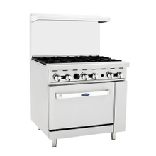 Atosa ATO-6B CookRite Gas Range, 36'', (6) 25,000 BTU open burners, (1) 26-1/2