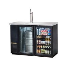 TRUE TDB-24-48G-HC-LD Draft Beer Cooler, door type, self-contained refrigeration, (2) shelves, (1) 1/2-keg and (144cs) 12oz can capacity, LED