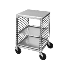 Channel 567/P Bun Pan Rack, Wire Slide, mobile, with work top, 20-1/2