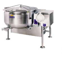 Cleveland KGL40TSH Short Series Steam Jacketed Kettle, gas, tilting, 40-gallon capacity, full steam jacket design, 38