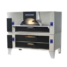 Baker's Pride FC-616/Y-600 Il Forno Classico Pizza Oven, double stacked with Y-600, wood burning style, gas, 60