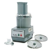 Robot Coupe R101 Combination Food Processor, 2.5 qt. gray polycarbonate bowl, stainless steel