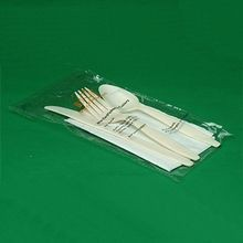 CUTLERY KIT KNIFE, SPOON, FORK NAPKIN COMPOSTABLE RCPLA (250)