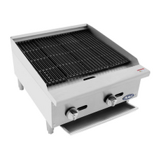 Atosa ATRC-24 Heavy Duty Radiant Charbroiler, Natural gas, countertop, 24