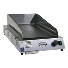Cadco CG-5FB Griddle, medium duty, electric, countertop, front to back design, 21