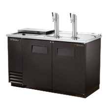 TRUE TDD-2CT-HC Club Top Draft Beer Cooler, (2) keg capacity, stainless steel counter top & lid over refrig. well, black vinyl exterior & (2) full