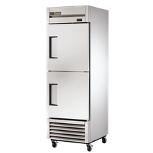 TRUE T-23-2-HC Refrigerator, Reach-in, one-section, (2) stainless steel half doors, stainless steel front, aluminum sides, clear coated aluminum