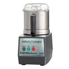 Robot Coupe R301 ULTRA B D Series Cutter/Mixer, 3-1/2 qt. stainless steel bowl with handle & see-thru lid, includes: (1)