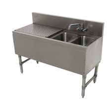 Advance Tabco PRB-19-42R Prestige Underbar Sink Unit, 2-compartment, 48
