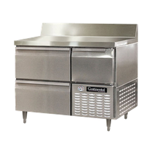 Continental DLRA43-SS-BS-D Designer Line Refrigerated Base Worktop Unit, 43
