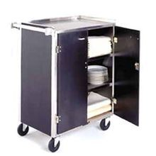 Lakeside 615 Bussing Cart, enclosed back & sides, (4) shelf, shelf size 15-1/2