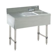 Advance Tabco CRB-42R Underbar Basics Sink Unit, 2-compartment, 48