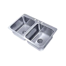 Advance Tabco SS-2-4521-12 Smart Series Drop-In Sink, 2-compartment, 20