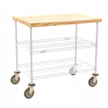 Eagle DC2460W Maple Top Demo Cart, 3-tier, 60