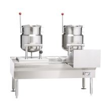 Vulcan VEKT64/12B12 Kettle/Stand Assembly, (1) K12ETT electric tilting kettle & VECTS12 electric braising pans, 64
